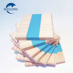 En bois poli de haute qualité de la crème glacée Stick