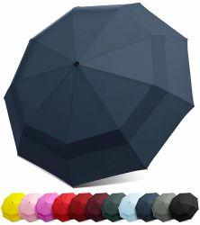 Neue Zwei-Schicht-Vordächer Automatische Windproof Golf Regenschirm, Outdoor-Schirme / Markisen, Große Größe Faltbare Regenschirm