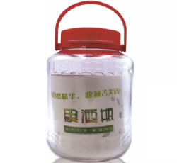5000ml en verre avec bouchon en plastique de Jar de stockage de grande gueule conteneur