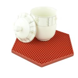 다채로운 연안 무역선, 실리카 젤 컵 둥근 매트, 창조적인 테이블 매트