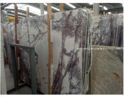 Stilvolle lila weiße Marmorgrosse Poliersteinplatten/Fliesen für Fußboden/Wand/Worktops/Tisch/Küche/Badezimmer/Hintergrund
