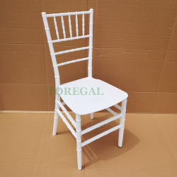 PP monobloc de gros de la résine plastique Sillas Chiavari Tiffany chaises