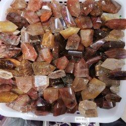 Punti di cristallo naturali del quarzo di Rultilated della pietra semi preziosa