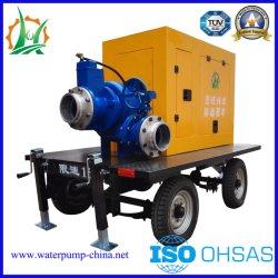 Motor diesel de emergencia el control de inundaciones de autocebado bomba de agua centrífuga