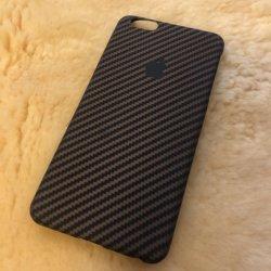 Logotipo personalizado 100% Real titular de la fibra de carbono, fibra de aramida iPhone caso