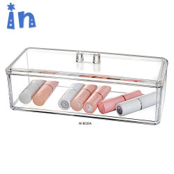Haut de gamme en acrylique transparent de la qualité de l'organiseur cosmétiques Boîte avec couvercle