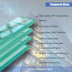 vetro Tempered temperato e libero di 3mm-19mm colorati per il vetro dell'acquazzone