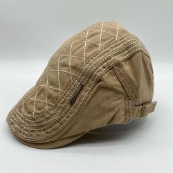 패션 유니섹스 좋은 품질 저가 엠브로이더드 조정식 빈티지 커스텀 면 IVY 모자