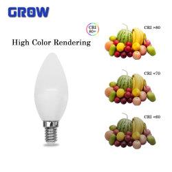 Lâmpada LED C37 4W/5W/6W/7W/Velas LED de 8 W a Lâmpada de iluminação interior