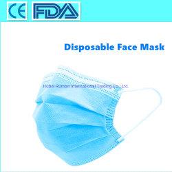 Gesichtsmaske-Wegwerfzubehör-Gesichtsschablonen des Bedarfs-Verteiler-Großverkauf-3ply Earloop schützendes chirurgisches medizinisches hergestellt in China