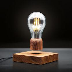 Волшебный магнитных Levitation Деревянные зерна декор светодиодная лампа освещения с плавающей запятой вращающихся лампа настольная лампа настольная лампа - Модель B