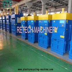 Automatique Presse à balles en plastique pour la mise en balles de déchets morceaux de plastique PET PP PE le PEBD, le PEBDL Recyclage