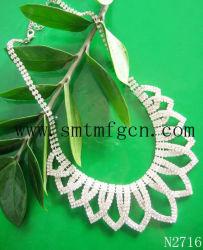 方法水晶結婚式のネックレス(N2716)