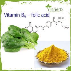 음식 급료 비타민 B9 고품질 엽산 99% CAS. 59-30-3
