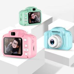 كاميرا الأطفال شاشة صغيرة عالية الدقة بدقة 1080p مع عرض فيديو ألعاب هدايا الأطفال عيد ميلاد الأطفال كاميرا رقمية للأطفال