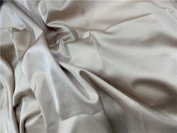 Four-Way Elastiek van de Polyester van de Rek imiteert Katoenen Pongézijde Geweven Geweven Stof in Voorraad voor het Satijn van het Kledingstuk 100GSM