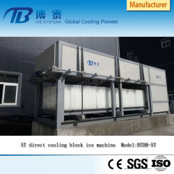 Voller automatischer Block-Speiseeiszubereitung-Maschinen-Hersteller, ohne Salzlösung-Wasser zu verwenden