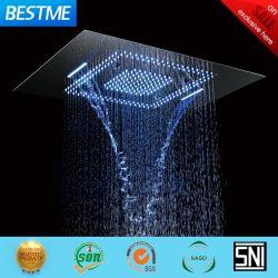 Fábrica de Foshan 600x800 Aço inoxidável música tecto LED Chuveiro Cascata Topo Torneira Chuveiro chuveiro cabeça (BMC-9049D)