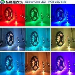 피스타 칩 SMD5050 60LED/M 조명 유연한 RGB LED 조명 스트립
