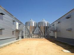 Granaio galvanizzato costruzione prefabbricata del blocco per grafici d'acciaio per la crescita del pollo