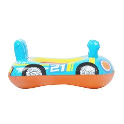 Fabriek Custom opblaasbare gele baby veiligheid zwembad Rider Float Stoel met handgrepen