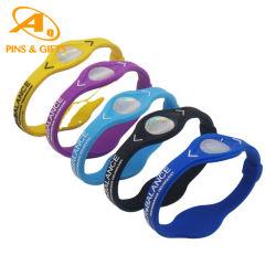 لون بريلينسي مخصص من المطاط السيليكون براسيليت فوق البنفسجي مضاد للبعوضة RFID Healthcare Fashion NFC Sport USB Slap Power Balanc E سوار معصم