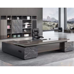 CEO Luxe modern kantoor tafel Executive Office Desk, Commercial Office Furniture