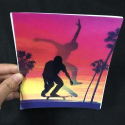 Lenticular 3D más recientes tarjetas de felicitación, tarjetas postal 3D, adaptado de la fábrica