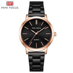 Mf Envio rápido de venda quente Lady Relógios de quartzo analógico moderno clássico de negócios OEM de relógio de Aço Inoxidável