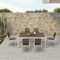 Diseño moderno mobiliario de exterior mesa de jardín Conjunto de silla de madera