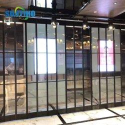 El uso comercial de PC Full View de aluminio puertas correderas plegables de policarbonato al por mayor de la puerta del Patio
