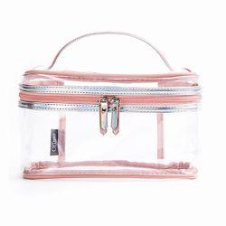 환경 보호 PVC 투명한 장식용 부대 여자 여행은 세면용품 부대 조직자 위로 정당화한다