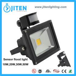 50W Proyector PIR de proyectores de iluminación LED con sensor de movimiento destornillador de 10-50 W disponible