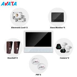Mais poderoso da porta de vídeo do intercomunicador telefone suporte de sistema para conectar com câmara CCTV Sensor PIR BLOQUEIA