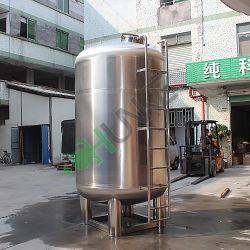 SS304/316 خزان تخزين المياه سفينة خلط المياه / الحليب / العصير / البيرة / السوائل الكيميائية