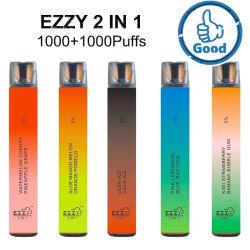 Лучше всего Ezzy 2 в 1 2000puffs Одноразовые устройства Vape пера