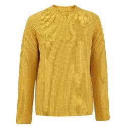 Parti superiori lunghe del maglione del manicotto del ponticello casuale comodo del pullover di colore solido degli uomini delle lane