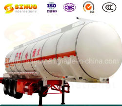 Caminhão-tanque semi reboque 3 Eixos 30000L/40000L/50000L de aço carbono / Aço inoxidável/Tanque de Alumínio Liga/ para combustível/óleo/diesel/gasolina/Petróleo bruto/Água/transportes de leite