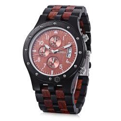 Späteste Entwurfs-Fabrik geben direkt auf lager schnelles Anlieferungs-Luxuxgeschenk-hölzernes Chronograph-Uhr-Mann-Handgelenk an