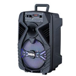 8 بوصات لتعزيز أداء الشرب مكبر صوت من الكاريوكي من الطرف مع تقنية Woofer Wireless اللاسلكية الميكروفون والبطارية التي يتم تشغيلها