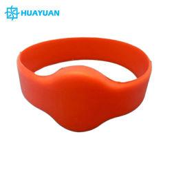 Kinder sortieren wasserdichten weichen Gummipassiven FM08 1K NFC SilikonRFID Wristband des armband-13.56MHz