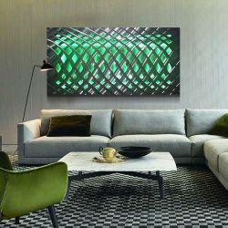 Arti all'ingrosso della parete dell'artigianato della pittura del metallo LED dell'estratto 3D per la decorazione domestica moderna