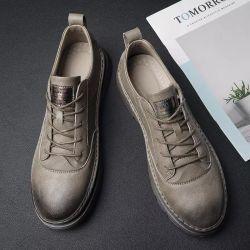 Novo Estilo de sapatos de trabalho do calçado masculino Calçado Casual calçado de couro sola de borracha