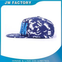 La impresión personalizada bordados en 3D el patrón de flores 6 Panel de poliéster tapa Snapback Hat el logotipo de impresión digital