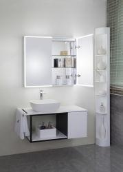 Cub sólidos de madeira moderna casa de banho branca designs de cortesia do gabinete