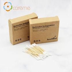 Freier Bambusbaumwollstock des Beispiel100pcs wischt Kunden des Ohr saubere Budshot Verkaufs-Products5 auf