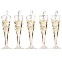 partito di plastica di vetro delle scanalature di Champagne di vetro di vino 190ml riutilizzabile per il regalo della decorazione della barra