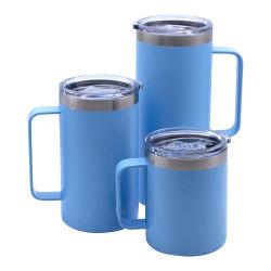 Termo Wevi reutilizable de acero inoxidable 304 de forma ovalada Nuevo estilo de vino de cristal tazas de café de viajes