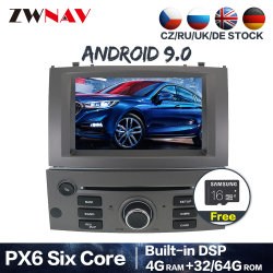 Auto GPS-Navigations-Radio-Bildschirm-androides System des Android-10.0 64GB Px6 für Peugeot 407 2004-2010 Auto-DVD-Spieler-Kopf-Geräten-Selbststereolithographie
