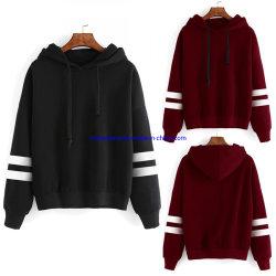 Vlies-Frauen-Sweatshirt-Mischgewebe-u. Baumwollunterschiedliche Größe für das auserlesene u. lose Patchwork Striped